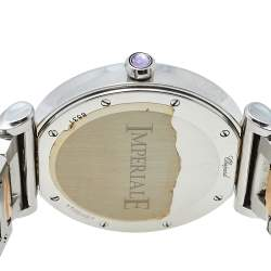 Chopard Mother Of Pearl 18K Yellow Gold & Stainless Steel Diamonds Imperiale 388531-6002 Women's Wristwatch 40 mm