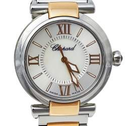 Chopard Silver 18K Rose Gold and Stainless Steel Imperiale 8563 Women's Wristwatch 29mm