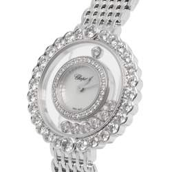 Chopard MOP White Gold Happy Diamonds 2041801201 Women's Wristwatch 30.3 mm