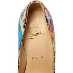 Christian Louboutin Multicolor Patent Leather Trash So Kate Pump Size 35.5