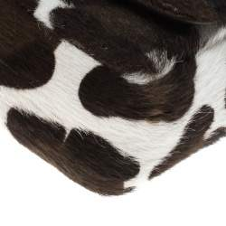 Christian Louboutin White Animal Print Calfhair Mini Sweet Charity Shoulder Bag