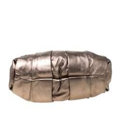 Christian Louboutin Metallic Leather Loubinette Hobo
