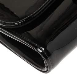 Christian Louboutin Black Patent Leather Riviera Clutch
