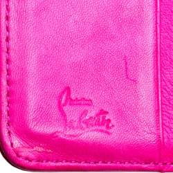 Christian Louboutin Neon Pink Patent Leather Sweet Charity Wallet