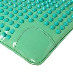 Christian Louboutin Mint Green Patent Leather Spiked Loubiposh Clutch Bag