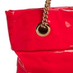Christian Louboutin Neon Pink Patent Leather Chain Tote