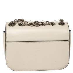 Christian Louboutin Ivory Leather Mini Sweet Charity Pearl Crossbody Bag