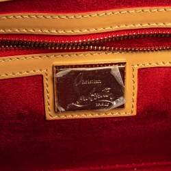 Christian Louboutin Beige Leather Small Spikes Sweet Charity Shoulder Bag