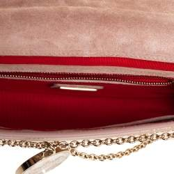 Christian Louboutin Beige Patent Leather Riviera Chain Clutch
