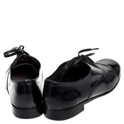 حذاء ديربي كريستيان لوبوتان جلد أسسود لامع مقاس 39