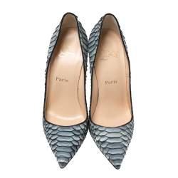 Christian Louboutin Grey Python Leather So Kate Pumps Size 37
