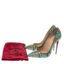 Christian Louboutin Multicolor Inferno Python Leather So Kate Pointed Toe Pumps Size 39