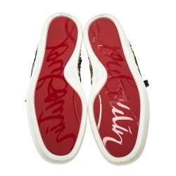 Christian Louboutin Metallic Multicolor Python Rantus Orlato High Top Sneakers Size 40