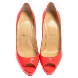 Christian Louboutin Pink Leather Lady Peep Toe Pumps Size 37