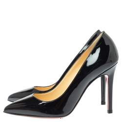 Christian Louboutin Black Patent Leather Pigalle Pumps Size 35