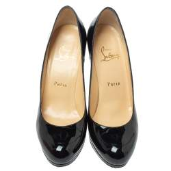 Christian Louboutin Black Patent Leather New Simple Pumps Size 38