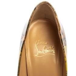 Christian Louboutin Multicolor Print Patent Leather Pigalle Follies Pumps Size 37
