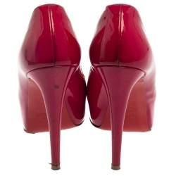 Christian Louboutin Pink Patent Leather Very Prive Pumps Size 36.5
