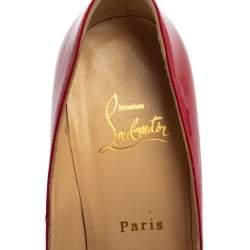 Christian Louboutin Magenta Patent Leather Bianca Platform Pumps Size 37.5