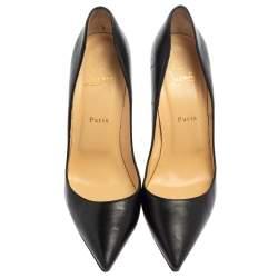 Christian Louboutin Black Leather So Kate Pumps Size 41.5