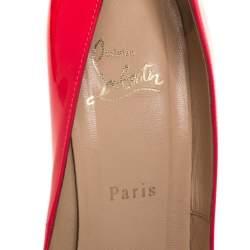 """حذاء كعب عالي كريستيان لوبوتان """"سو كيت"""" مقدمة مدببة جلد لامع فوشيا مقاس 40.5"""