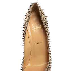 Christian Louboutin Gold Leather Escarpic Spike Pumps Size 39.5