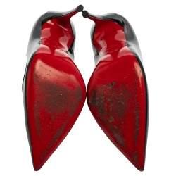 Christian Louboutin Black Patent Leather So Kate Pumps Size 38