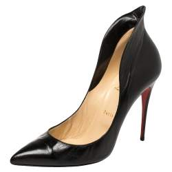 Christian Louboutin Black Leather Mea Culpa Pumps Size 41