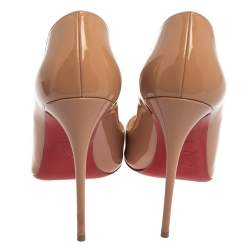 Christian Louboutin Beige Patent Leather So Kate Pumps Size 37