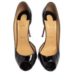 Christian Louboutin Black Patent Leather Demi You D'orsay Pumps Size 41