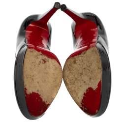 Christian Louboutin Black Patent Leather Bianca Pumps Size 37.5