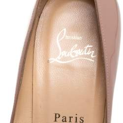 Christian Louboutin Beige Leather Pigalle Pointed Toe Pumps Size 37.5