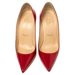 Christian Louboutin Red Patent Leather So Kate Pointed Toe Pumps Size 36