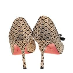 Christian Louboutin Beige Suede and Lace Bow Pumps Size 39