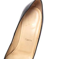 Christian Louboutin Black Leather Fifille Pumps Size 37.5