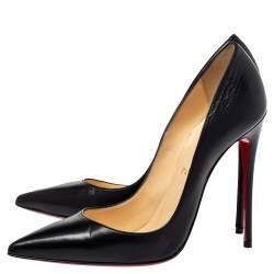 Christian Louboutin Black Leather So Kate Pointed Toe Pumps Size 38.5