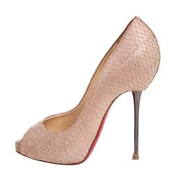 Christian Louboutin Beige Python Leather Altadama  Pumps Size 34.5