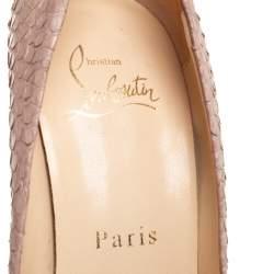 Christian Louboutin Beige Python Leather Altadama  Pumps Size 34.5
