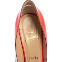 Christian Louboutin Pink Patent Leather And PVC Pivichic Pumps Size 37