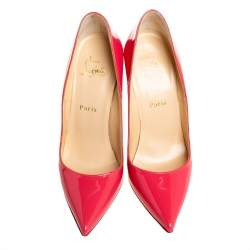 Christian Louboutin Pink Patent Leather So Kate Pumps Size 39