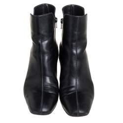 Christian Louboutin Black Leather Tiagada Ankle Boots Size 40.5