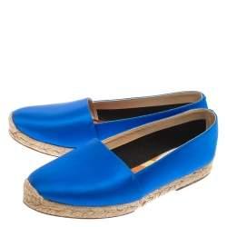 Christian Louboutin Blue Satin Espachica 20  Espadrilles Size 37