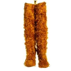 Christain Louboutin Yellow Faux Fur Knee Length Boots Size 37.5