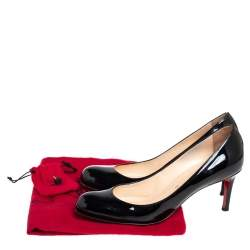 Christian Louboutin Black Patent Leather Leather Simple Pumps Size 39