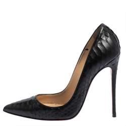 Christian Louboutin Black Python So Kate Pumps Size 37