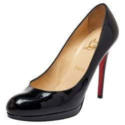 Christian Louboutin Black Patent Leather New Simple Pumps Size 39