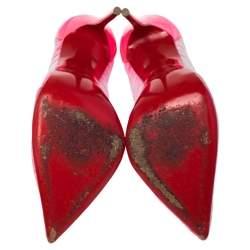 Christian Louboutin Pink Follie Draperia Chiffon Pointed Toe Pumps Size 36.5