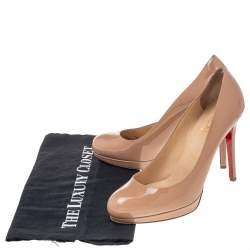 Christian Louboutin Beige Patent Leather Simple Pumps Size 37.5