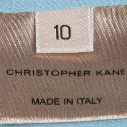 Christopher Kane Powder Blue Sleeveless Shift Dress M