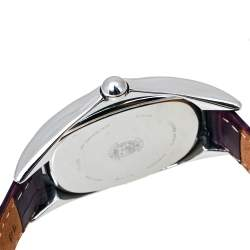 Citizen Mother Of Pearl Stainless Steel Leather Eco-Drive E031-S020352 Women's Wristwatch 31 MM